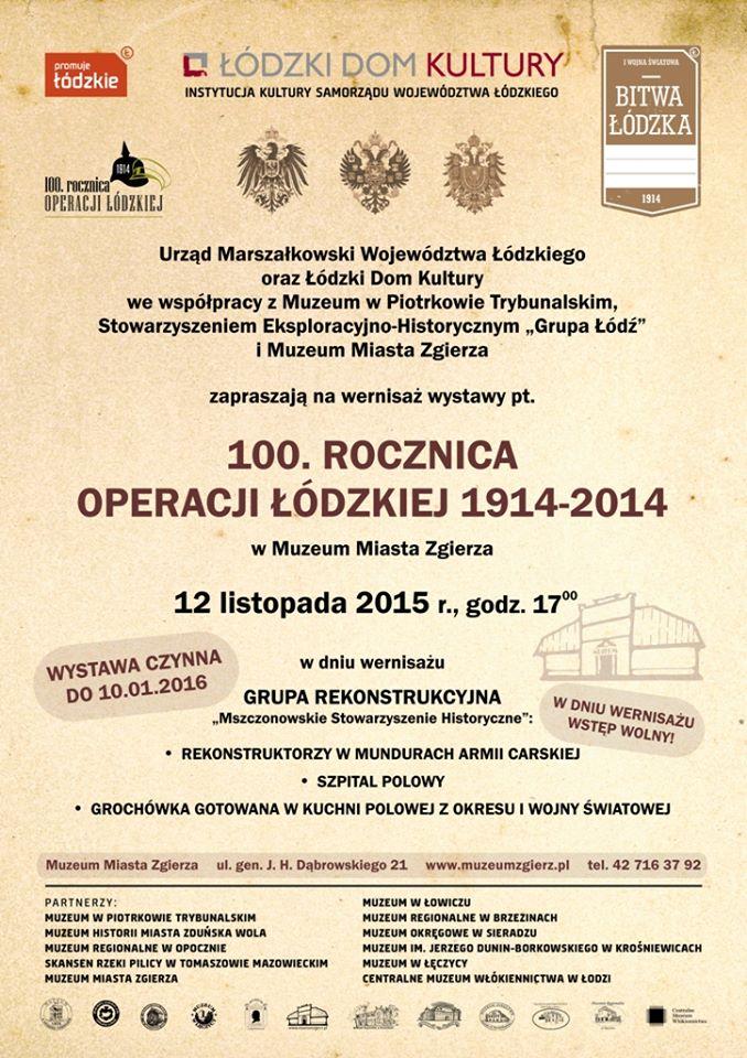 Wernisaż wystawy 100 rocznica bitwy Łódzkiej Zgierz 2015